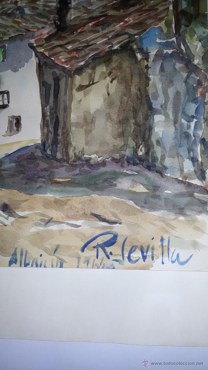Arte: INTERESANTE ACUARELA SOBRE EL ALBAICÍN,HACIA 1960-FIRMADA - Foto 3 - 47616189