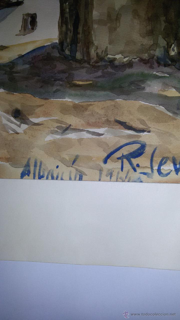 Arte: INTERESANTE ACUARELA SOBRE EL ALBAICÍN,HACIA 1960-FIRMADA - Foto 5 - 47616189