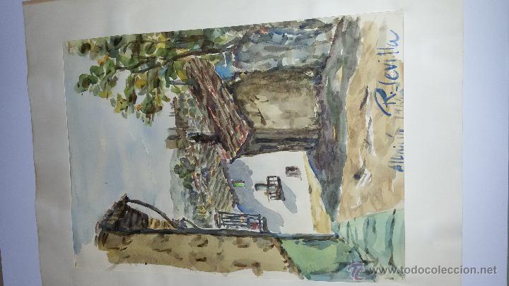 Arte: INTERESANTE ACUARELA SOBRE EL ALBAICÍN,HACIA 1960-FIRMADA - Foto 6 - 47616189