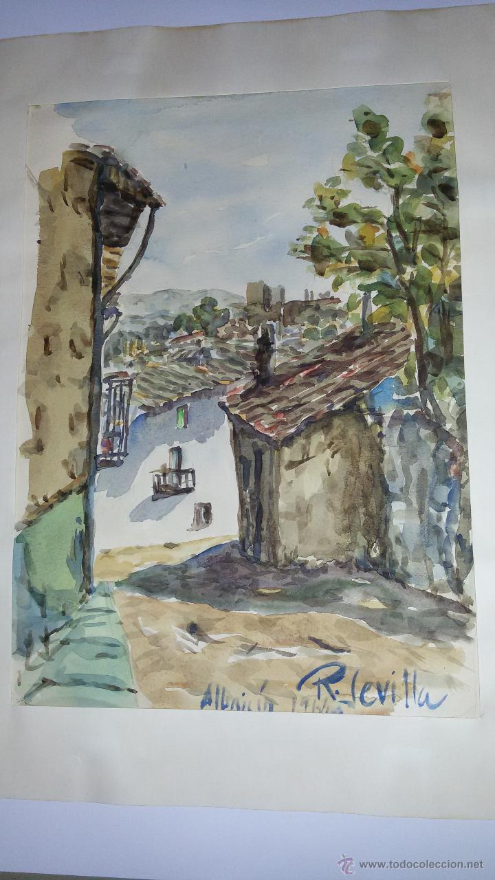 Arte: INTERESANTE ACUARELA SOBRE EL ALBAICÍN,HACIA 1960-FIRMADA - Foto 8 - 47616189