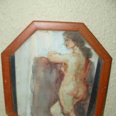 Arte: ACUARELA - FDA M GARCÉS - DESNUDO FEMENINO. Lote 47727707