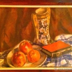 Arte: ACUARELA BODEGO ORIGINAL DE PAU SABATE JAUMA, 1940. FIRMADA. 40X30. Lote 47733308