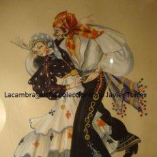 Arte: EXCELENTE ACUARELA ORIGINAL DEL PINTOR ILICITANO ELCHE VICENTE CLAVEL FLORENTINO, AÑO 1956. Lote 48362905