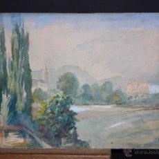 Arte: ILEGIBLE, FECHADO DEL 1946. ACUARELA SOBRE CARTULINA. PAISAJE. Lote 48489831