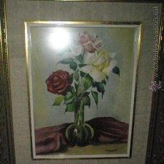 Arte: PRECIOSA ACUARELA DE FRESQUET-25X20 Y 42X37 CMS.CON MARCO-.. Lote 29557093
