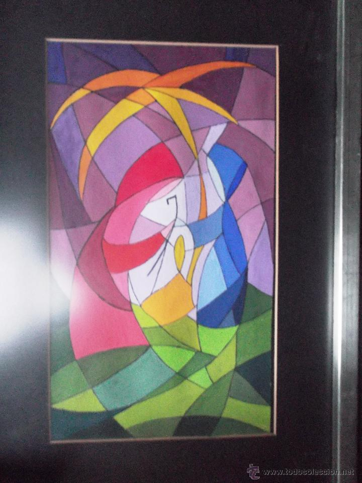 Arte: DIBUJO DE SAGRADA FAMILIA EN ACUARELA OPACA O ACRILICO SOBRE PAPEL, ENMARCADO-. - Foto 3 - 48526515