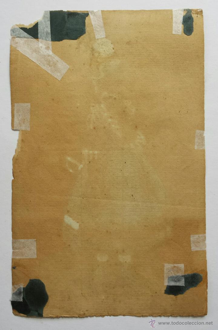 Arte: Excelente retrato original en acuarela de una joven soldado con un uniforme, siglo XVIII, calidad - Foto 2 - 48750619
