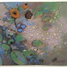 Arte: BONITAS FLORES, PASTEL ORIGINAL FIRMADO POR T. V. KITTLITZ, CALIDAD. Lote 48802728
