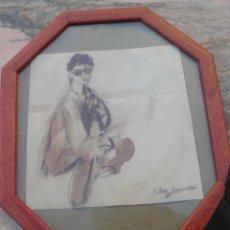 Arte: AGUADA - FIRMA ILEGIBLE - MUJER. Lote 48869931