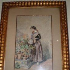 Arte: ACUARELA DE INFANTA PAZ DE BORBON (1862-1946).ADMITO OFERTAS. Lote 48935333