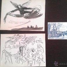 Arte: CA. 1940 JOAN COMMELERAN I CARRERA GRUPO DE ARTISTAS INDEPENDIENTES LOTE 3 DIBUJOS ORIGINALE. Lote 49051285