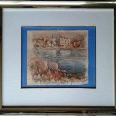 Arte: PAU ROIG ESTRADÉ (VILANOVA I LA GELTRÚ, 1914-1994) - ACUARELA ENMARCADA 59 X 53. Lote 49182460
