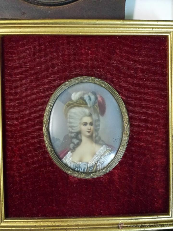 CUADRO MINIATURA. S.XVIII-XIX (Arte - Acuarelas - Antiguas hasta el siglo XVIII)