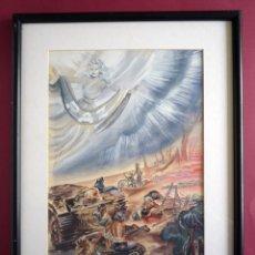 Arte: LA GUERRA. GOUACHE ORIGINAL DE MONTSERRAT BARTA. 1906-1988. ENMARCADO. Lote 49322331