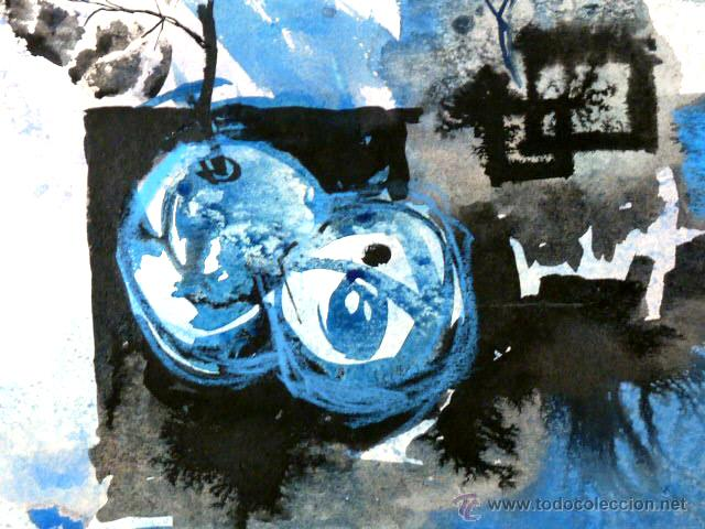 Arte: acuarela de bernat sanjuan i tarré(barcelona 1915-Deià 1979)Bodegón 1971 - Foto 3 - 49419481