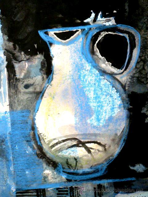 Arte: acuarela de bernat sanjuan i tarré(barcelona 1915-Deià 1979)Bodegón 1971 - Foto 4 - 49419481