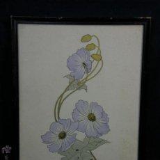 Arte: ACUARELA FLOR Y DORADOS TONOS PASTEL ATRIBUIDO R. LOMBARDINI ITALIA 1900 35,5X27,5CMS. Lote 49544034
