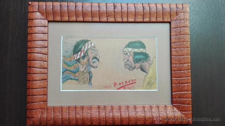 Arte: DIBUJO ORIGINAL DE PERSONAJES INDIOS - BARRERO - VIÑETAS DE PERIODICO ESPAÑOL DE LOS AÑOS 30 - - Foto 2 - 49555360