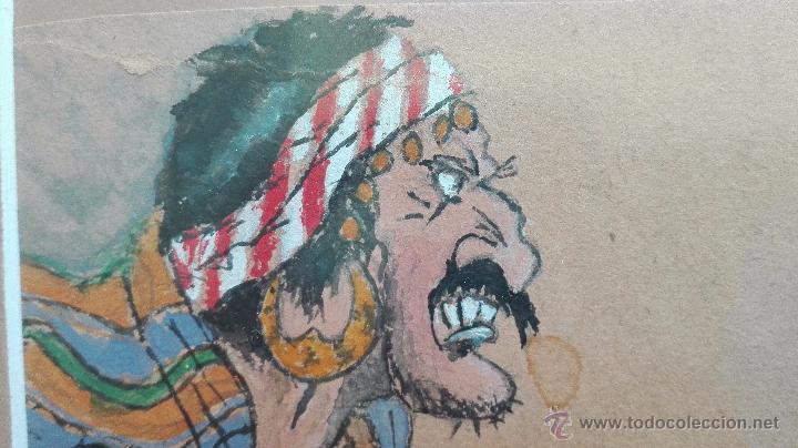 Arte: DIBUJO ORIGINAL DE PERSONAJES INDIOS - BARRERO - VIÑETAS DE PERIODICO ESPAÑOL DE LOS AÑOS 30 - - Foto 3 - 49555360
