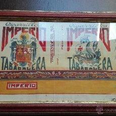 Arte: DIBUJO ORIGINAL DE CIGARRILLOS IMPERIO - TABACALERA - DIBUJO ESCUDO FRANQUISTA Y CARAVELA - AÑOS 40. Lote 49555536