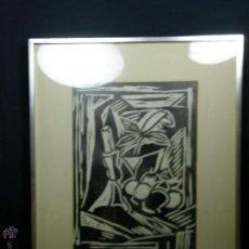 Arte: TÉCNICA MIXTA BODEGÓN BLANCO NEGRO 7-30 1930 FIRMADO H. KÖNIG LAPIZ 62,5X50,5CMS. Lote 49732967