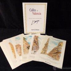 Arte: L. SANCHO. COLECCIÓN ACUARELAS CALLES DE VALENCIA. 15 REPRODUCCIONES. Lote 49747671