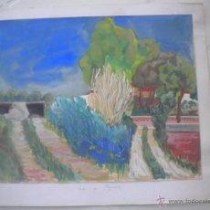 Arte: RABAT I JUNCADELLAS, ACUARELA SOBRE CARTON, PALAU DE PLEGAMANS.. Lote 97030899