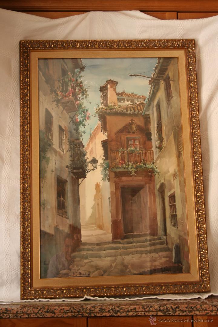 ACUARELA DE BONILLO (Arte - Acuarelas - Contemporáneas siglo XX)