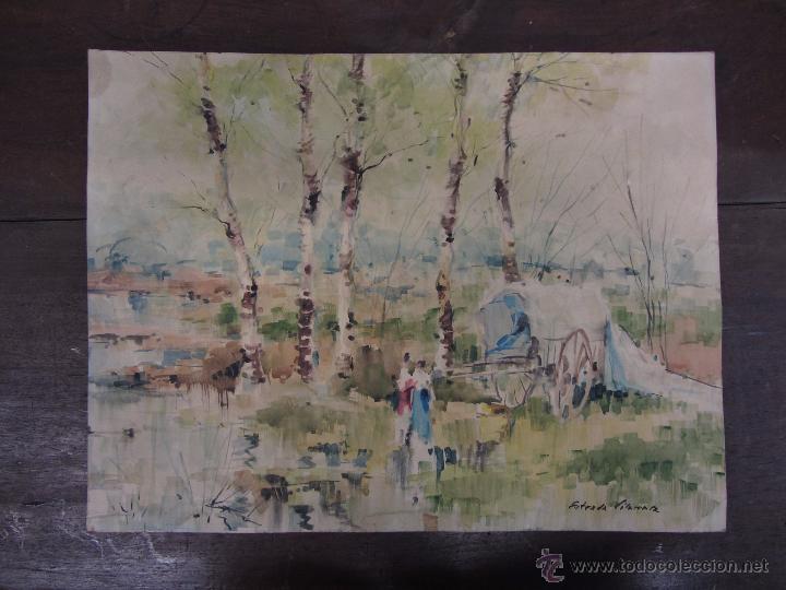 ACUARELA ESTRADA VILARRASA (Arte - Acuarelas - Contemporáneas siglo XX)