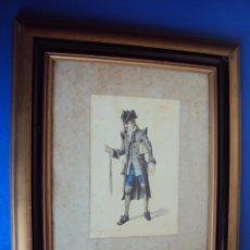 Arte: (PINT-010)DIBUJO ORIGINAL A LAPIZ Y ACUARELA REALIZADO POR EL PINTOR JOSE VILLEGAS CORDERO,1844-1921. Lote 50385415