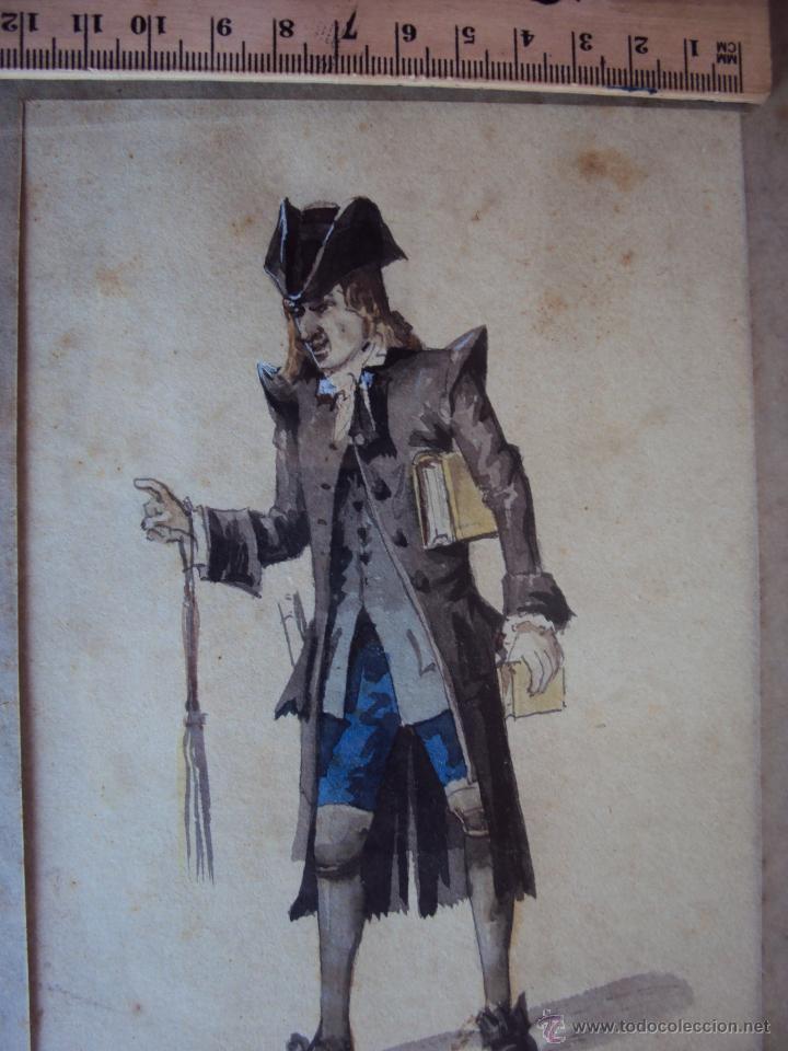 Arte: (PINT-010)DIBUJO ORIGINAL A LAPIZ Y ACUARELA REALIZADO POR EL PINTOR JOSE VILLEGAS CORDERO,1844-1921 - Foto 4 - 50385415