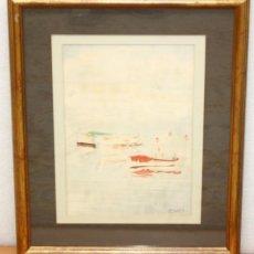 Arte: JOSÉ BAGÉS JANÉ. (VILANOVA I LA GELTRÚ, BARCELONA, 1910) ACUARELA PAPEL, PLAYA DE SITGES. Lote 50556963