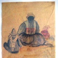 Arte: CUADRO FIRMADO 1945. DEDICADO EN 1960. ENVIO CERTIFICADO INCLUIDO.. Lote 50702336