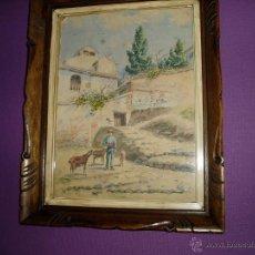 Arte: GRANADA EL ALBAICÍN VISTO POR JUAN DE DIOS DEL VALLE 1870. Lote 51034351