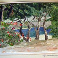 Arte: BONITA ACUARELA FIRMADA GLORIA ELLIS. Lote 51213574