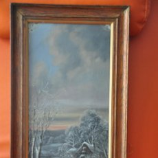 Arte: ÓLEO SOBRE TABLA FIRMADO Y FECHADO EN 1880 , FRANK HERBERT ?. Lote 51243565