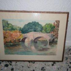 Arte: BONITA ACUARELA FRANCESA DEL 19. Lote 51655045