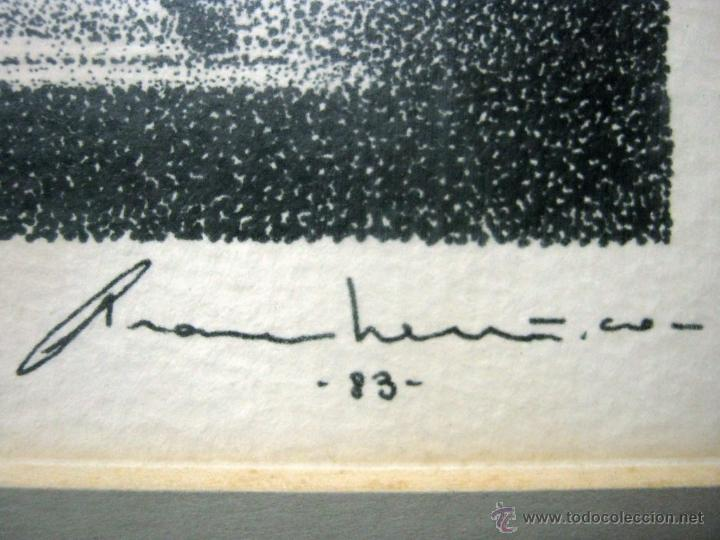 Arte: tecnica mixta - firmada ilegible - pianista al piano de cola - Foto 3 - 51718581