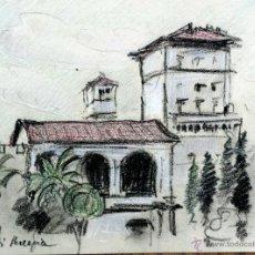Arte: BONITO PASTEL ORIGINAL DE FINALES DEL SIGLO XIX-PPIOS XX, ESTILO IMPRESIONISTA. Lote 52129563