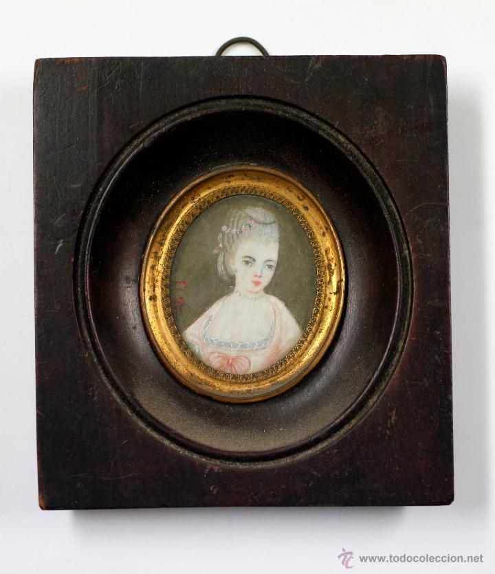 pequeña miniatura sobre plaquita de marfil, fir - Comprar Acuarelas ...