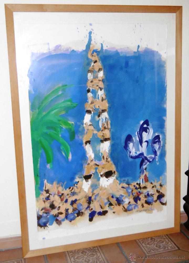 Arte: ESPECTACULAR 140 x 100 CMS MONTESOL CASTELLS XIQUETS REUS - Foto 2 - 52675548