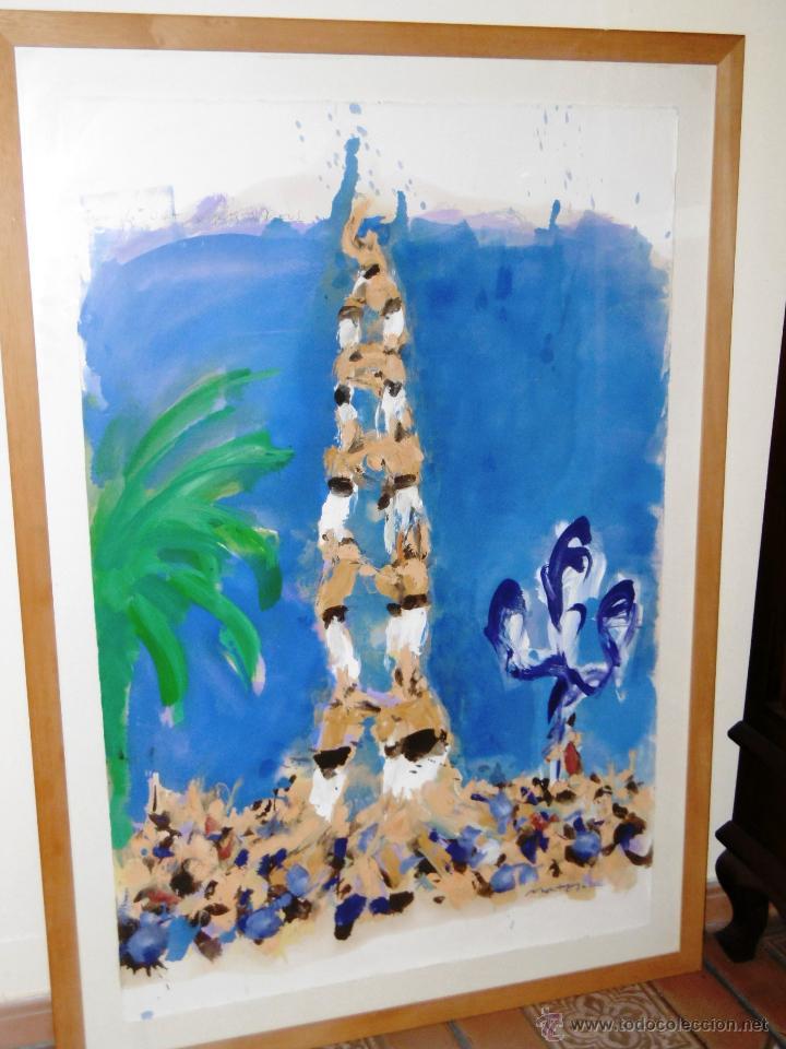 Arte: ESPECTACULAR 140 x 100 CMS MONTESOL CASTELLS XIQUETS REUS - Foto 6 - 52675548