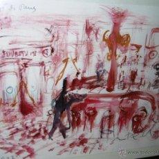 Arte: OPORTUNIDAD... DECORATIVO MONTESOL CAFÉ ANTIGUO DE REUS, EN TONOS ROJOS 84 X 68 CMS. Lote 52675651