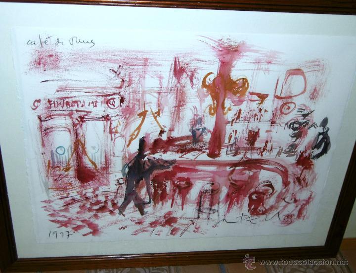 Arte: OPORTUNIDAD... DECORATIVO MONTESOL CAFÉ ANTIGUO DE REUS, EN TONOS ROJOS 84 X 68 CMS - Foto 2 - 52675651