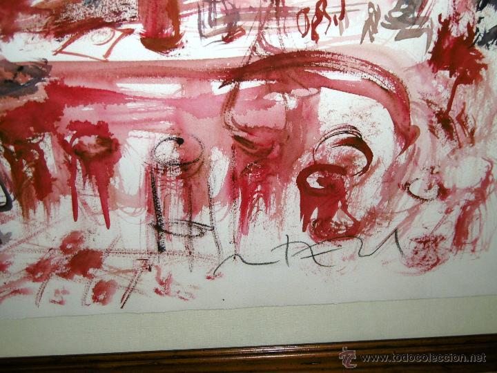 Arte: OPORTUNIDAD... DECORATIVO MONTESOL CAFÉ ANTIGUO DE REUS, EN TONOS ROJOS 84 X 68 CMS - Foto 4 - 52675651