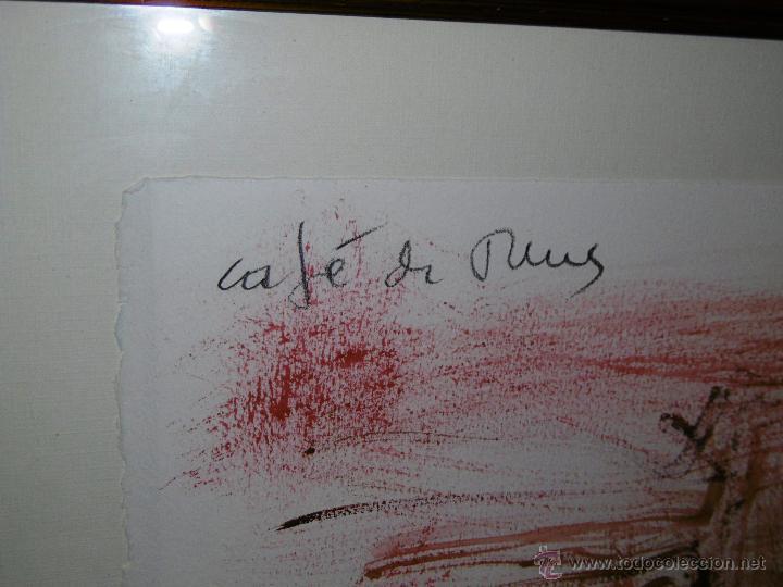 Arte: OPORTUNIDAD... DECORATIVO MONTESOL CAFÉ ANTIGUO DE REUS, EN TONOS ROJOS 84 X 68 CMS - Foto 6 - 52675651