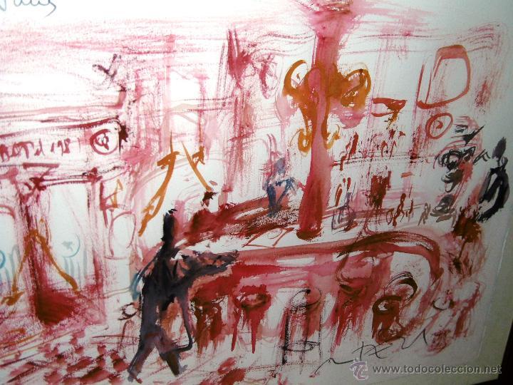 Arte: OPORTUNIDAD... DECORATIVO MONTESOL CAFÉ ANTIGUO DE REUS, EN TONOS ROJOS 84 X 68 CMS - Foto 7 - 52675651