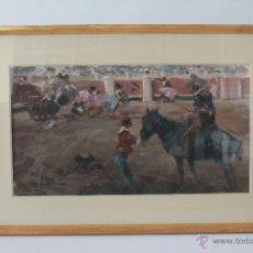 Arte: EL PICADOR. ACUARELA TAURINA EN COLOR DE ANTONIO CASERO 1969. 48 X 27 CMS. Lote 52759883