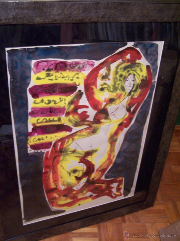 Arte: JOSÉ CABALLERO Técnica Mixta sobre papel 54x74 cm - Foto 2 - 44956003