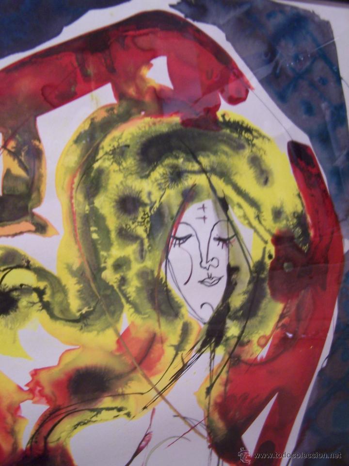Arte: JOSÉ CABALLERO Técnica Mixta sobre papel 54x74 cm - Foto 3 - 44956003